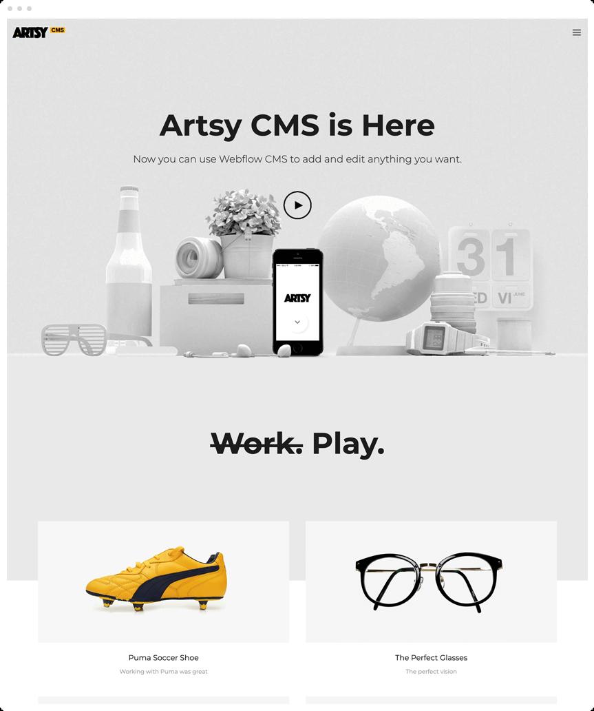 Artsy CMS Webflow Template
