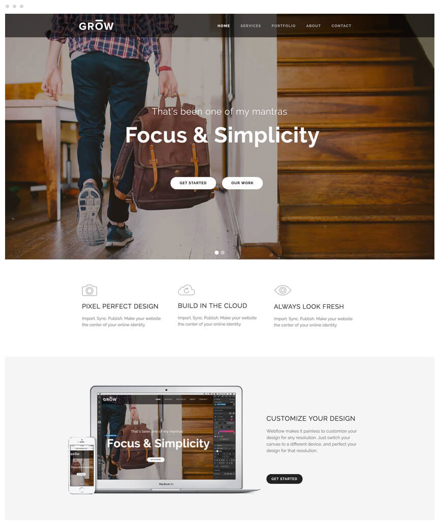 Grow Webflow Template
