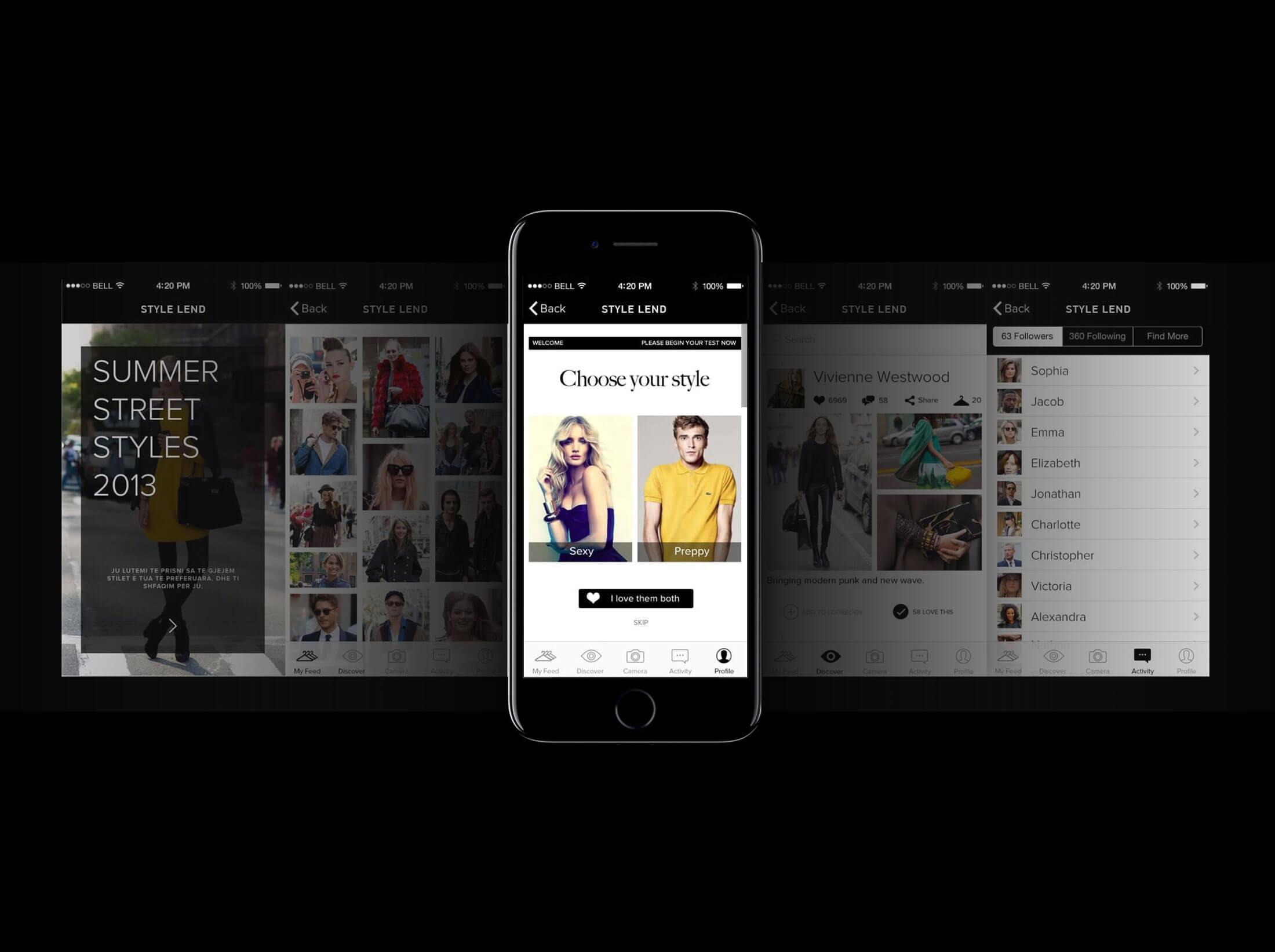 Style Lad iOS App Design