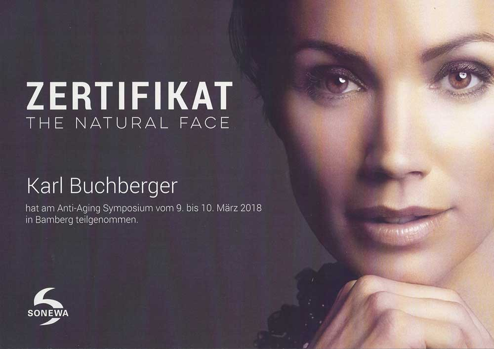 The natural face zertifikat 2018