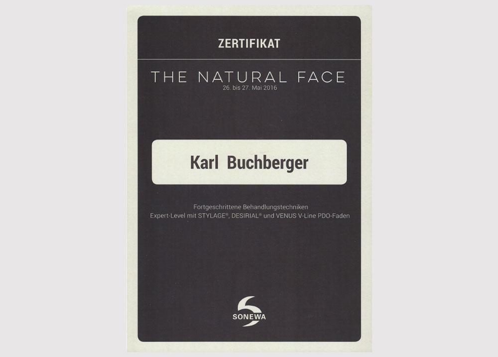 The natural face zertifikat 2016