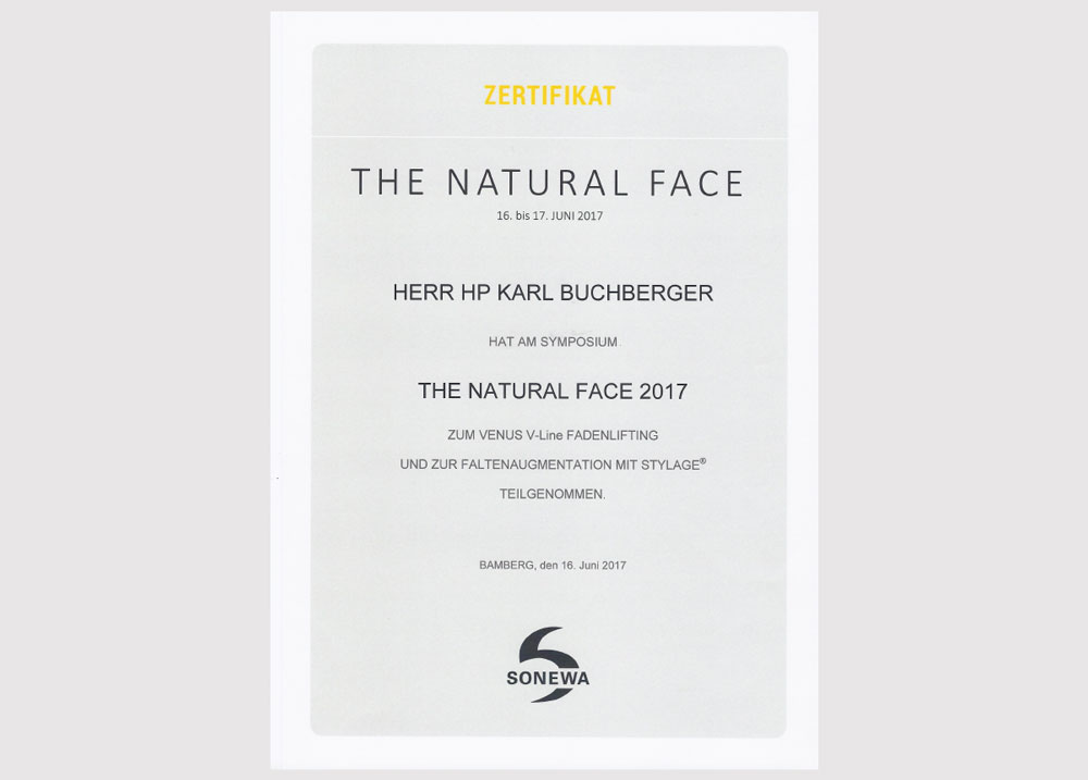 The natural face zertifikat 2017