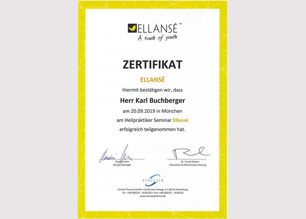 Ellanse Zertifikat 2019