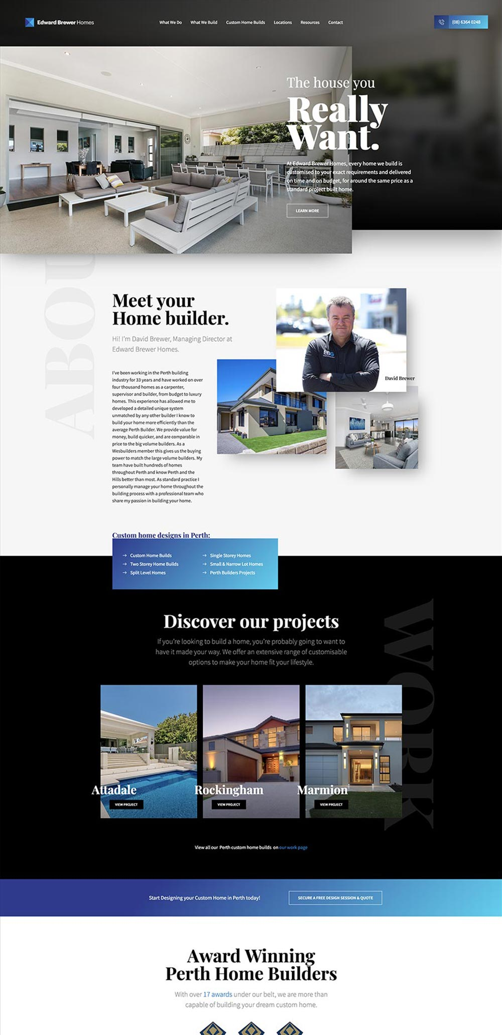 Example of a website design