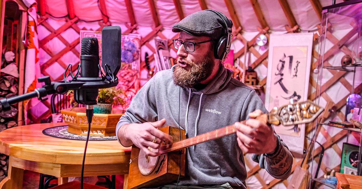 Rowan playing Mongolian music