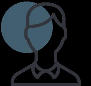 line icon of a person profile