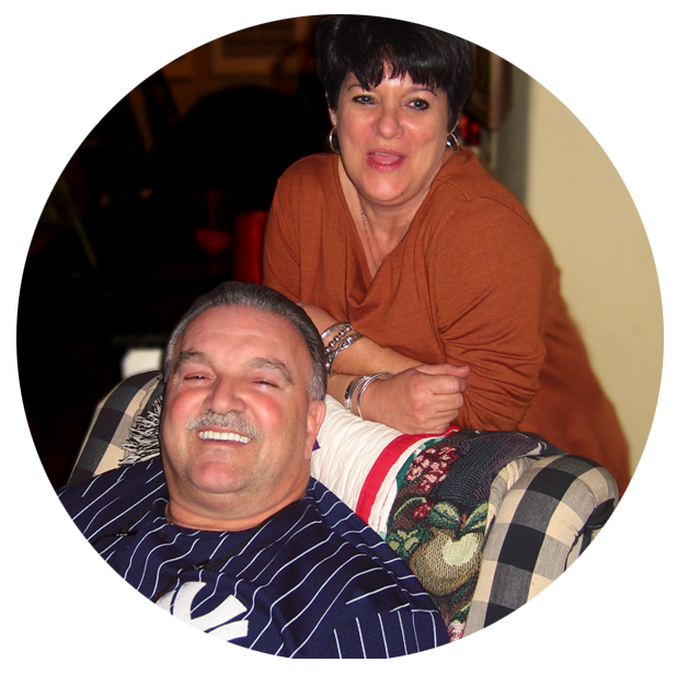 A picture of Dominic and Debbie Occhiato, the owners.
