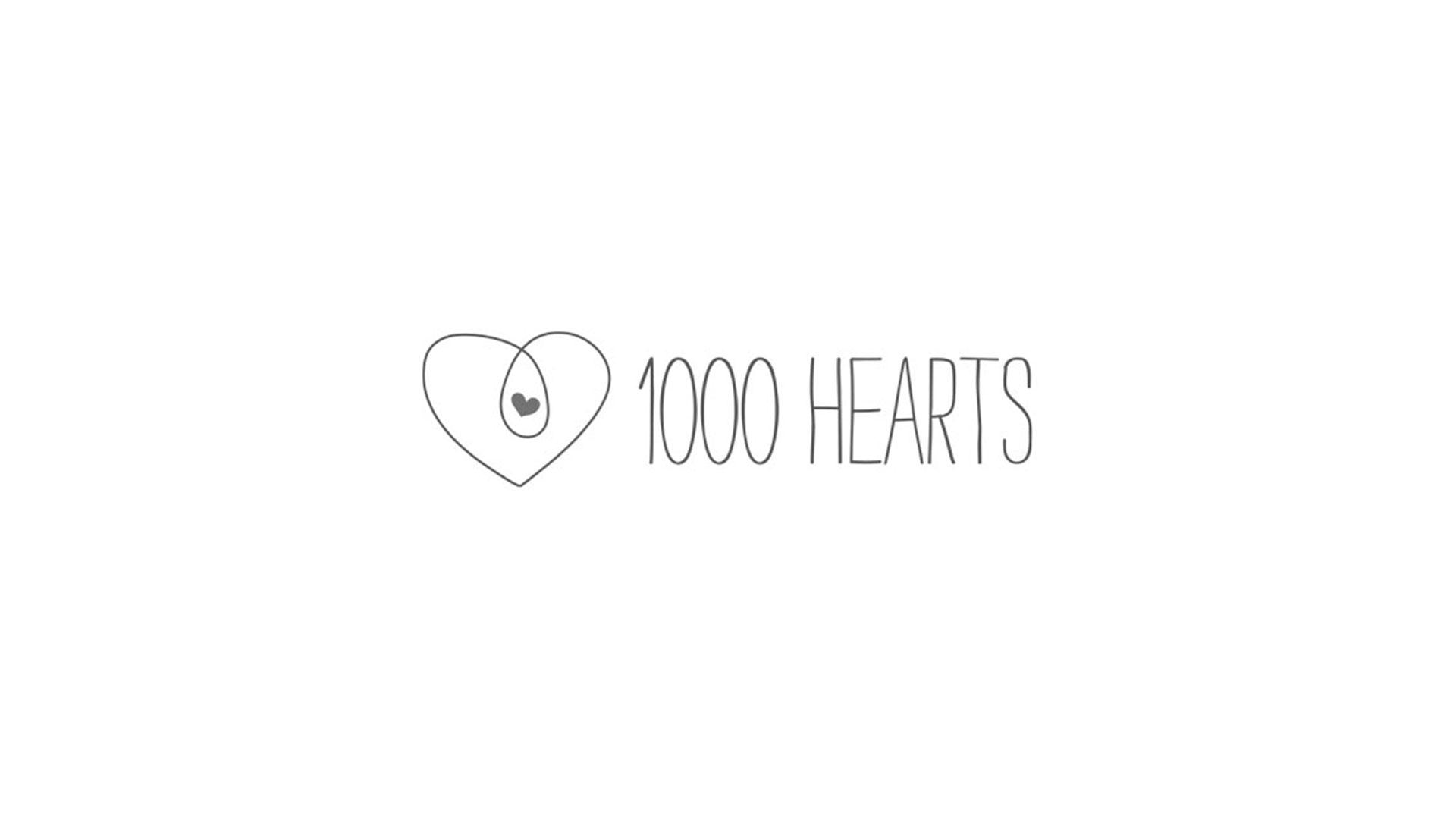 1000 hearts logo