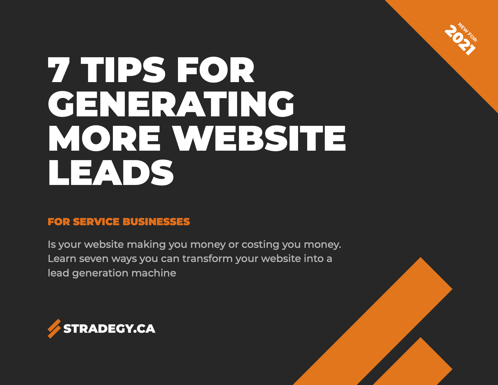 Document Cover: 7 tips for generating more website leads