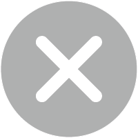 gray round icon with a white x in the middle