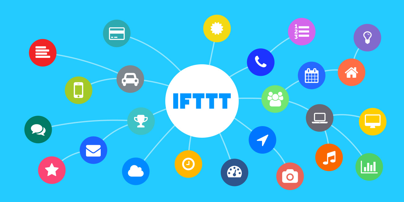 blue image showing smart home IFTTT connection possibility