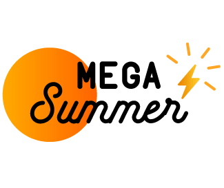 Mega Summer logo in header with a sun and the OhmConnect flash