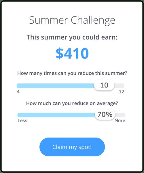 Summer challenge calculator