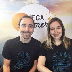 Katie and Greg announcing MEGA Summer prizes