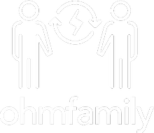 OhmFamily logo showing a family with the OhmConnect logo