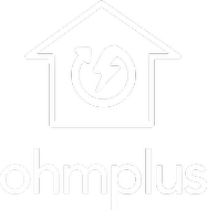 OhmPlus logo withOhmConnect logo in a house