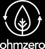 OhmZero logo with an eco bulb icon