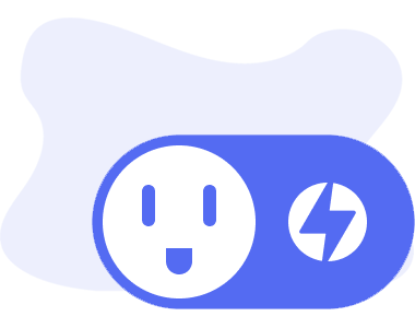 OhmPlug icon in blue with the OhmConnect logo