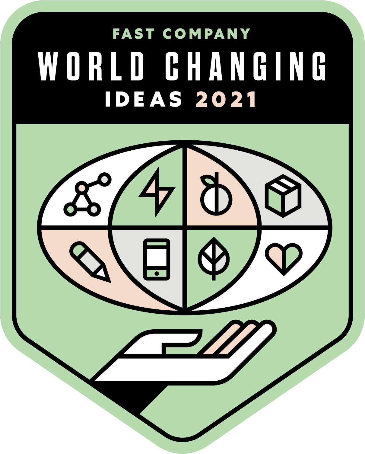 badge for the winner of the fast company world changing ideas 2021 award
