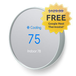 Google Nest Thermostat on cooling setting - free at OhmConnect while supplies last