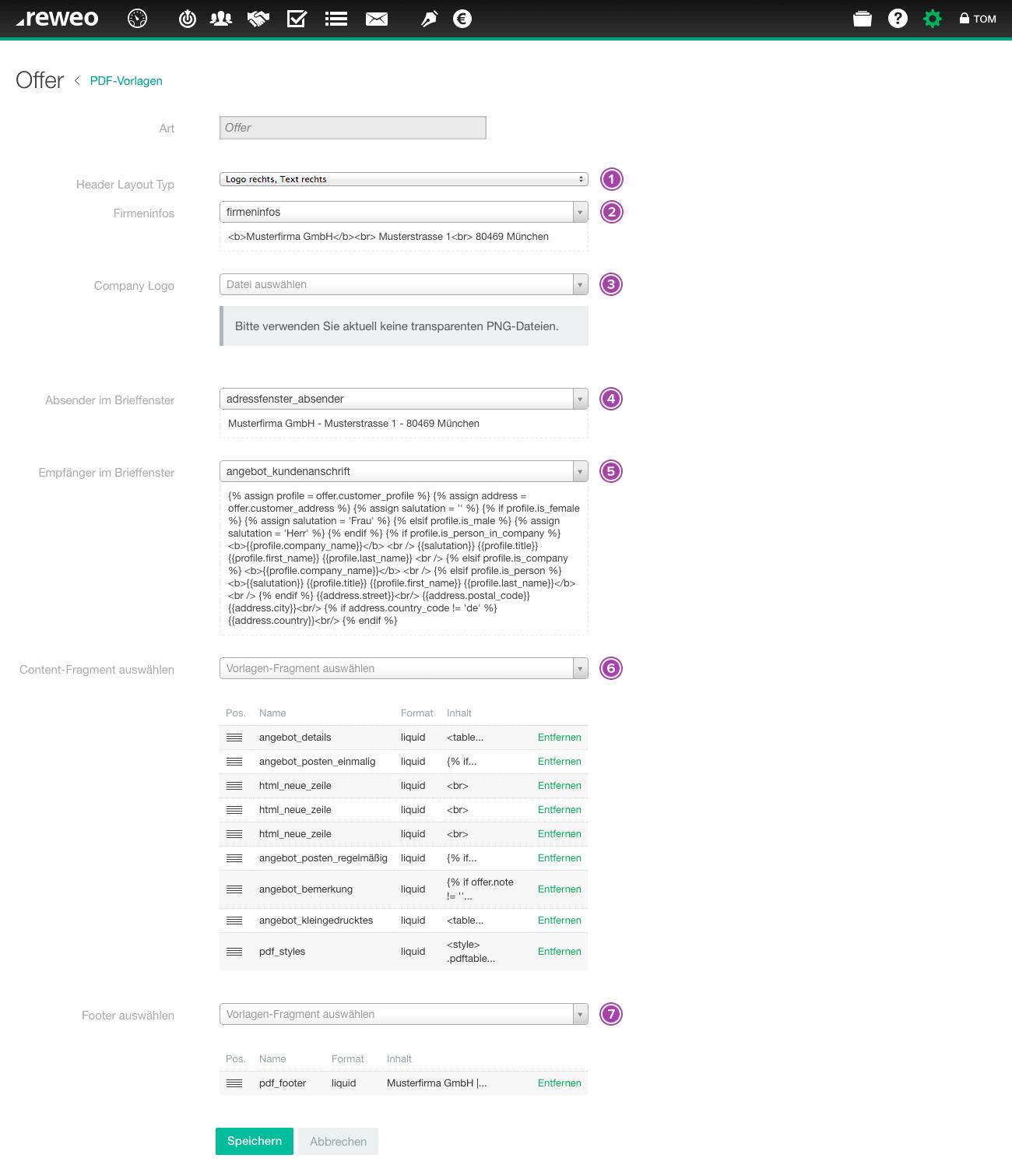 Angebots-PDF-Vorlage