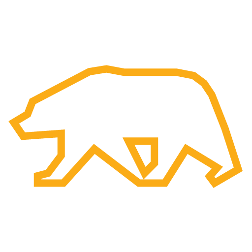 California Grizzly Bear icon in color yellow.