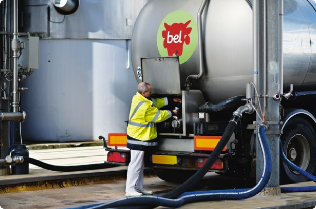 A bel Group worker fixing a company truck