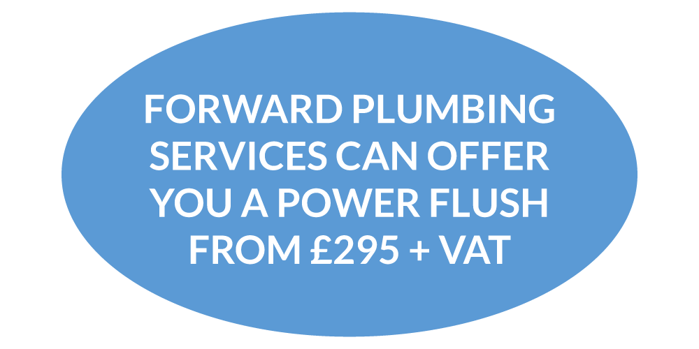 Central heating power flush Eastbourne from £295