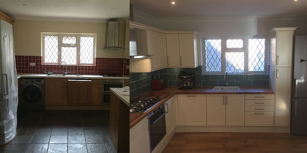 Kitchen refurb - home improvements eastbourne
