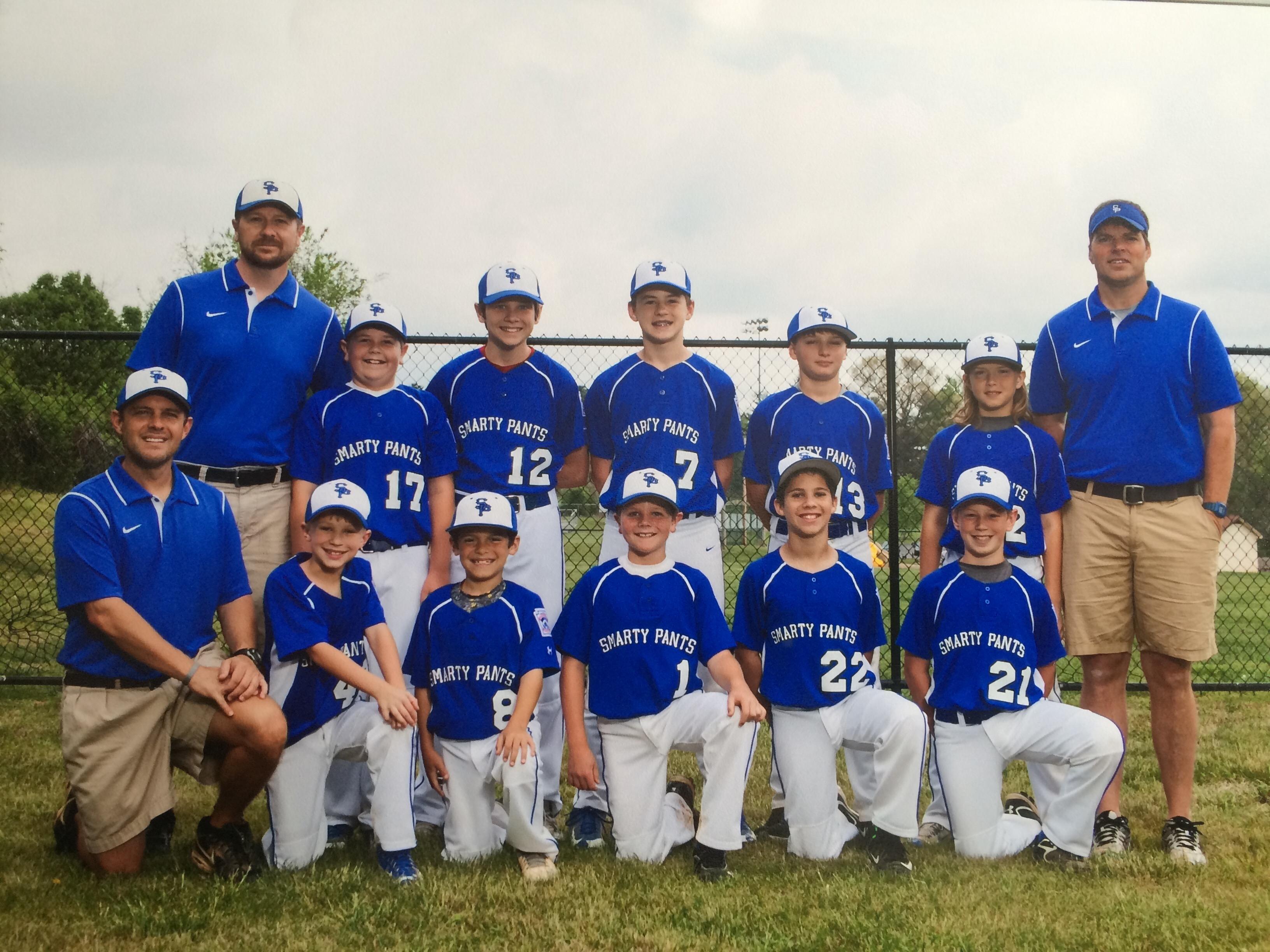 Smarty Pants 2016 Little League team picture