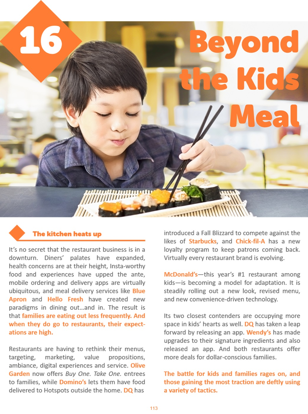 Beyond the Kids Meal Preview