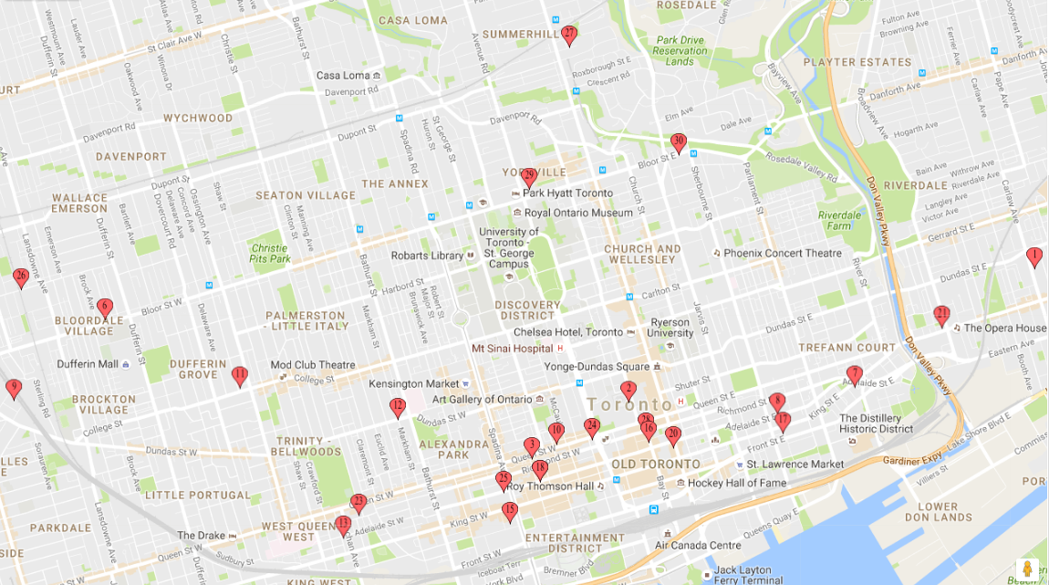 toronto acoustic panels map