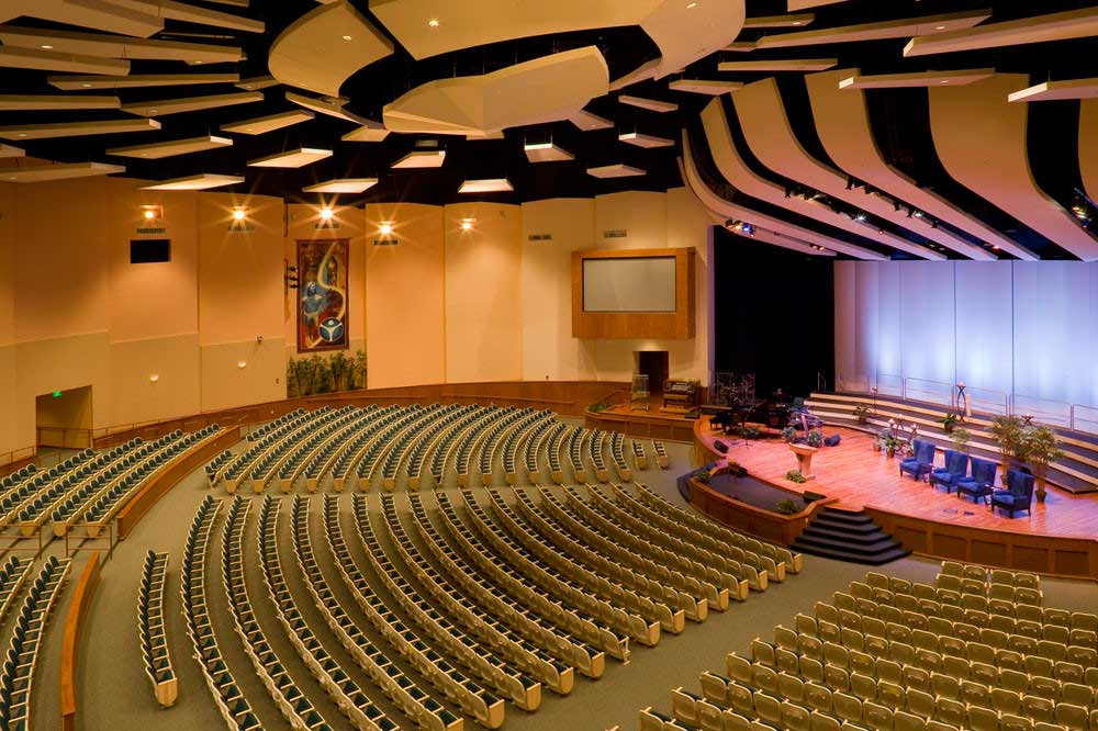 acoustic panels in worship center