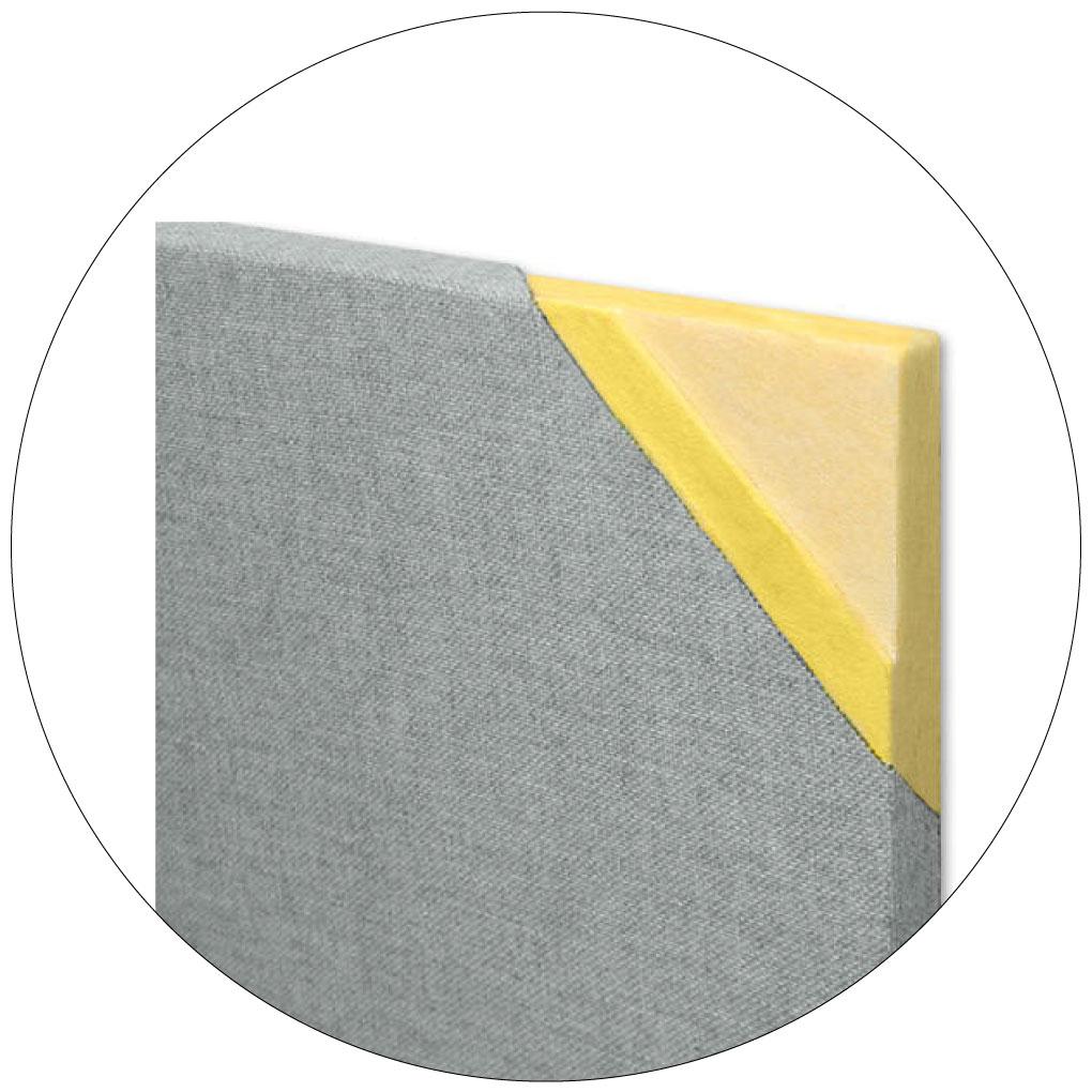 Resin hardened edge panels