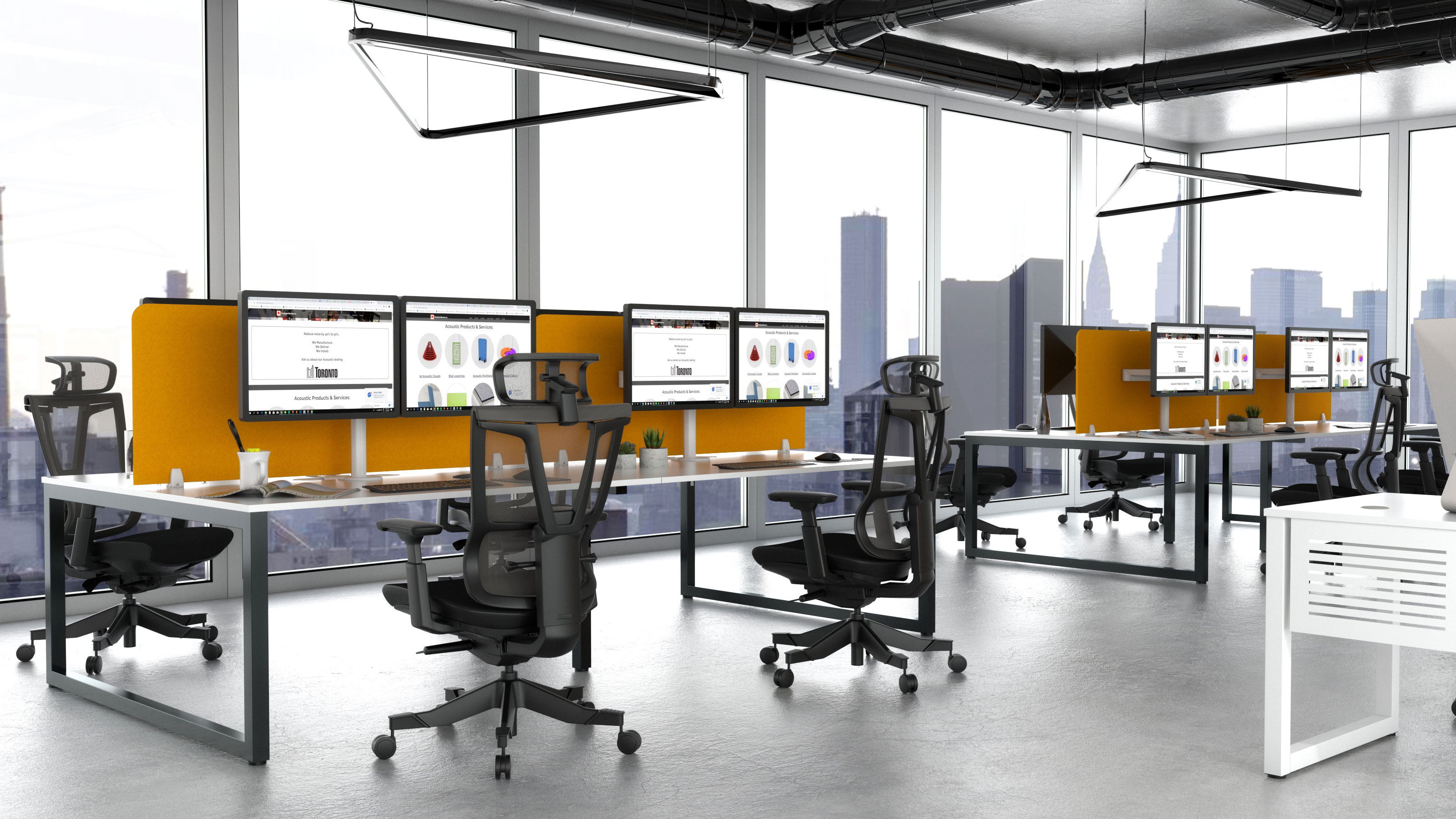acoustic desk dividers similar to zintra