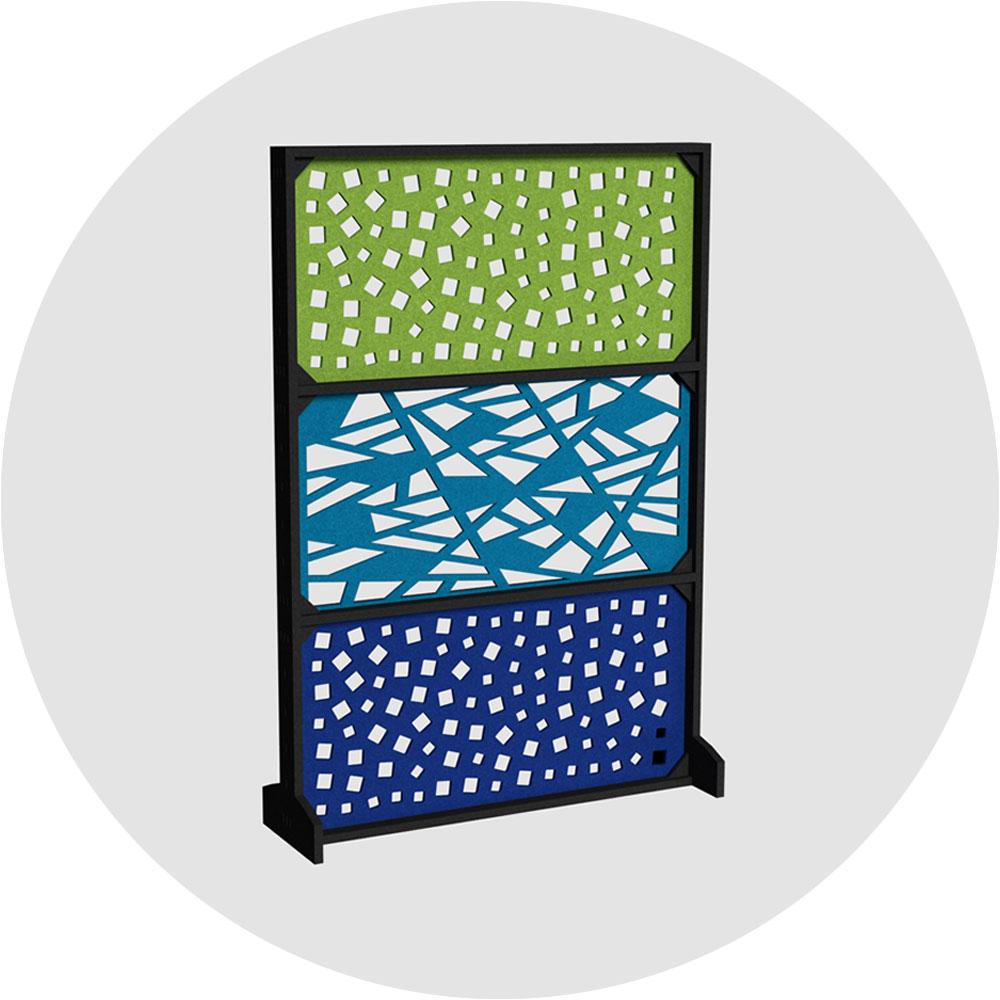 Acoustic modular click wall