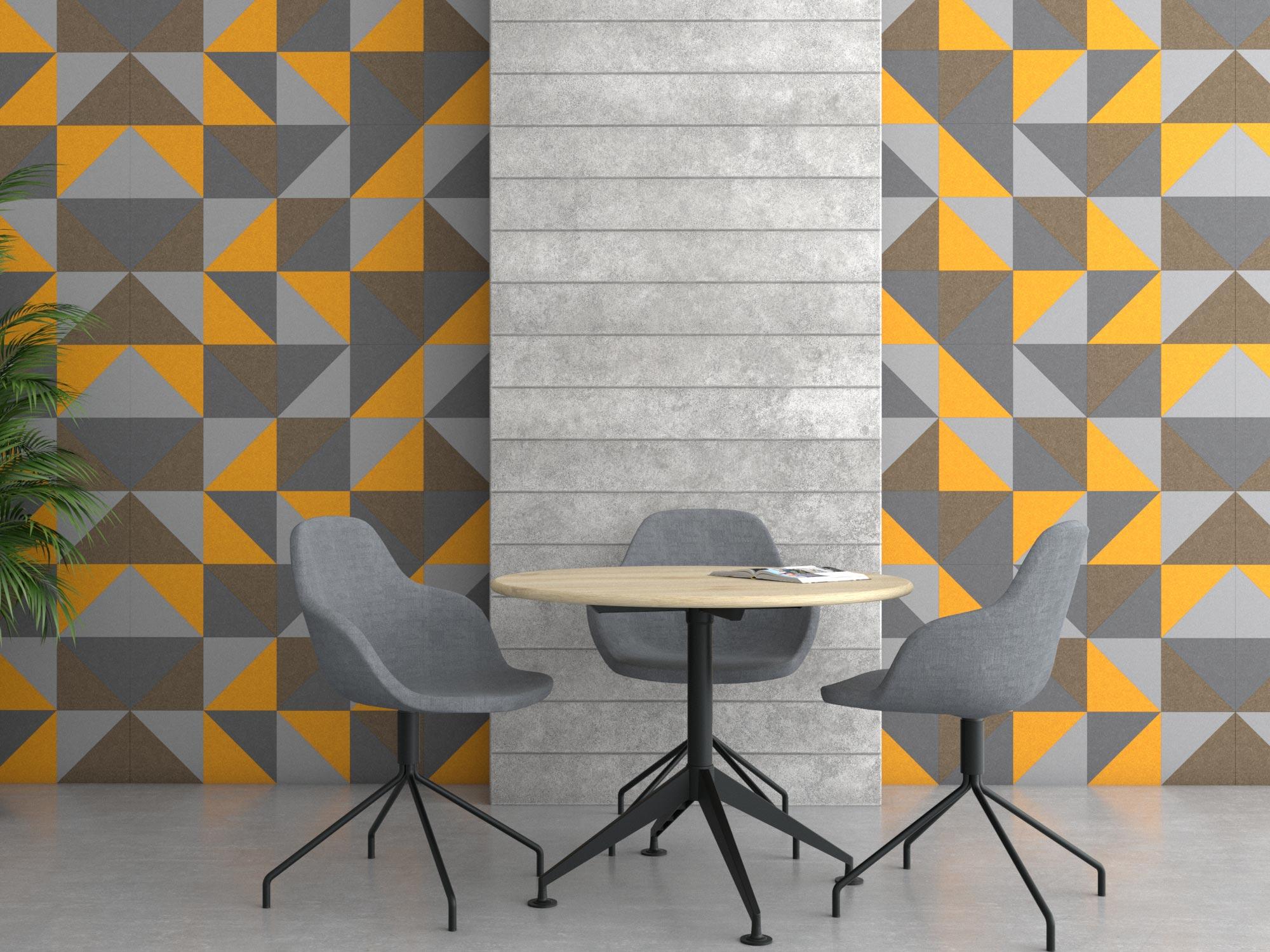 Acoustic Felt Wall Tile design - 90 degree shape
