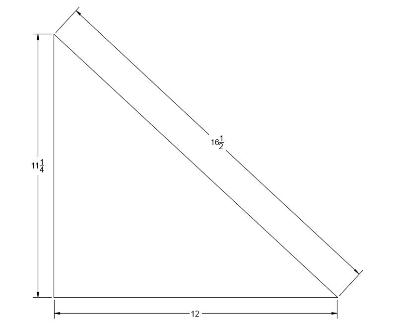Acoustic Felt (PET) Wall Tiles - 90 Degree - Drawing