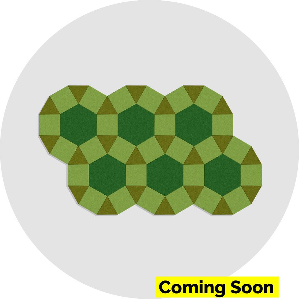 Acoustic wall tiles - circle-checkers - acoustic felt