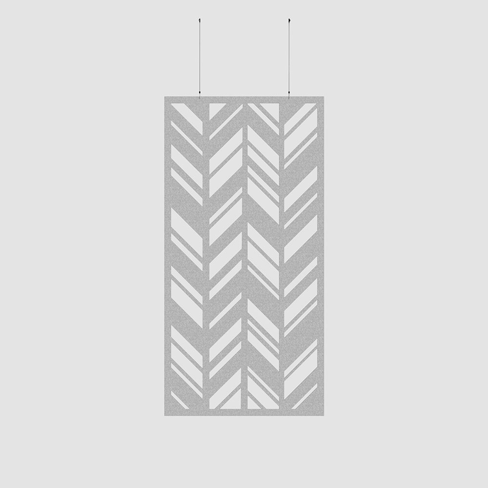 chevrons acoustic wallcovering