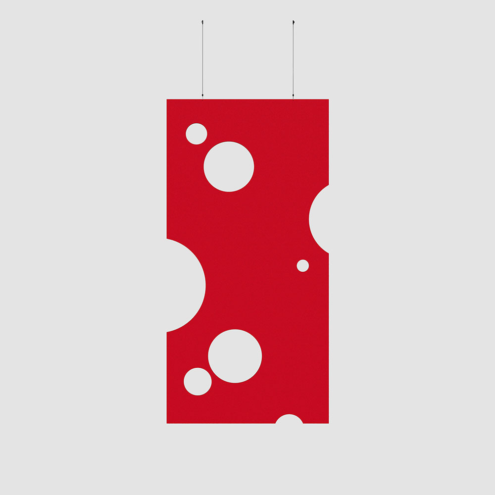 swiss cheese acoustic wallcovering