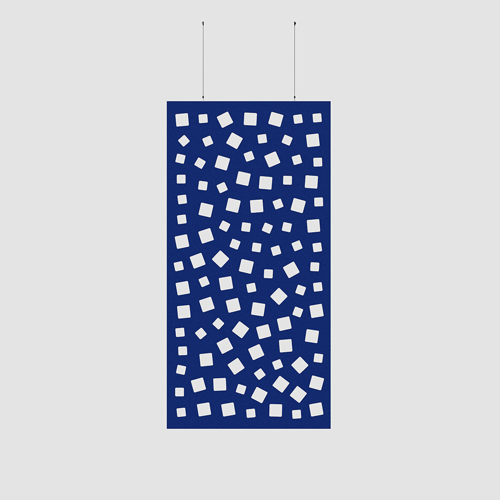 square holes acoustic wall covering