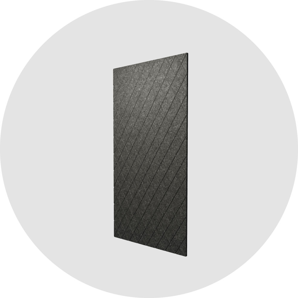 acoustic wall coverings criss-cross pattern