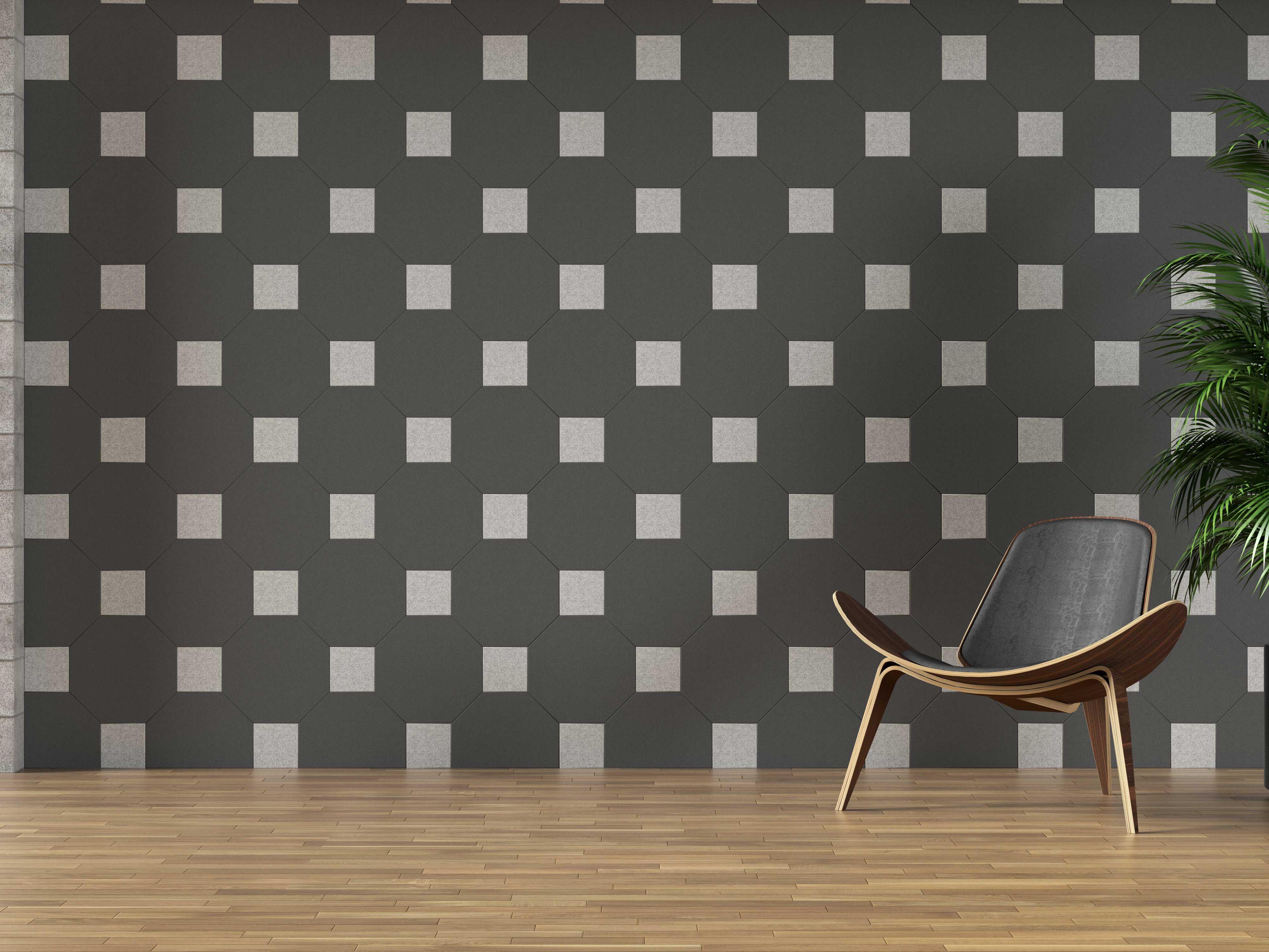 Acoustic Felt (PET) Wall Tiles - Parallelogram - Acoustic PET