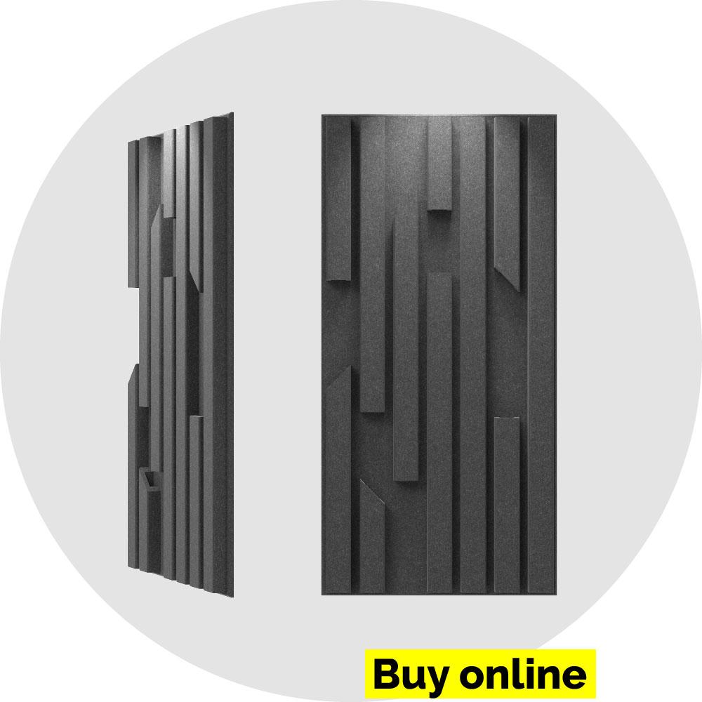 acoustic panel 2x4 bars - slate