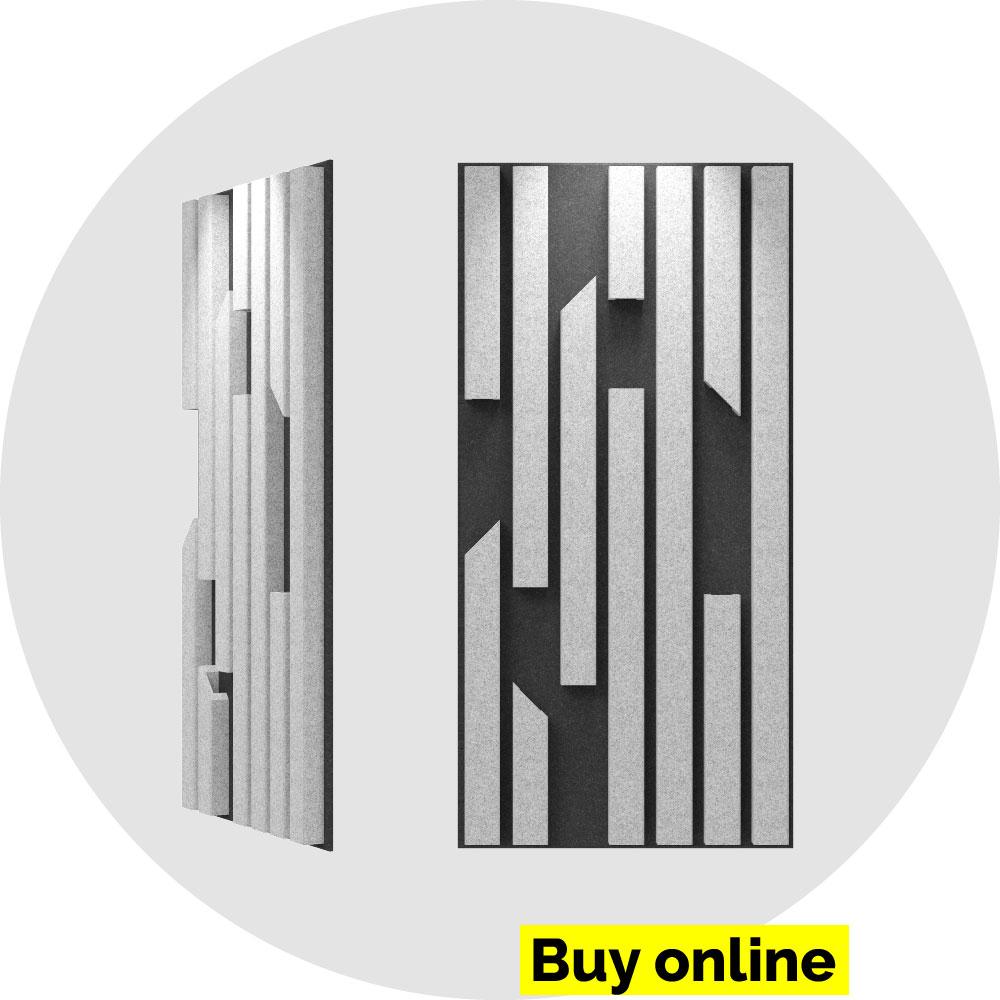 acoustic panel 2x4 bars - marble on  slate