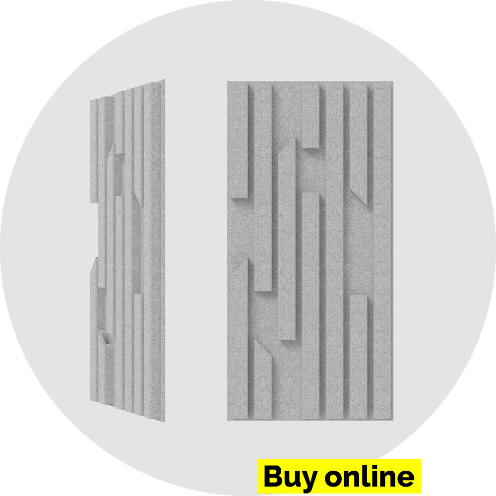 acoustic panel 2x4 bars - marble on marble