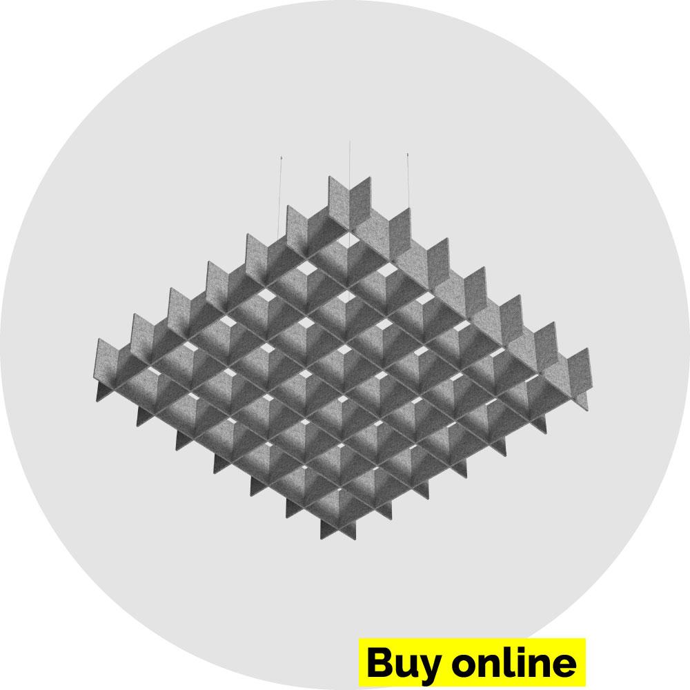 Acoustic Grid Cloud - acoustic felt