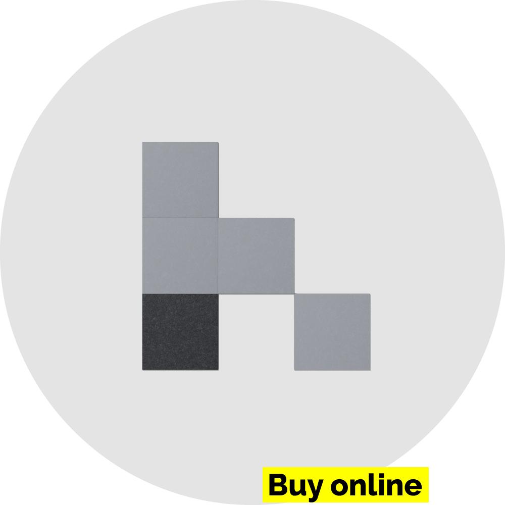 Acoustic wall tiles - parallelogram - acoustic felt
