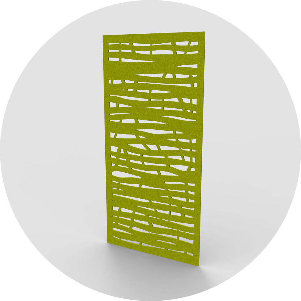acoustic wallcovering panel jungle design